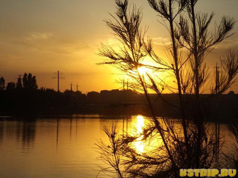 Закат в парке Саманидо