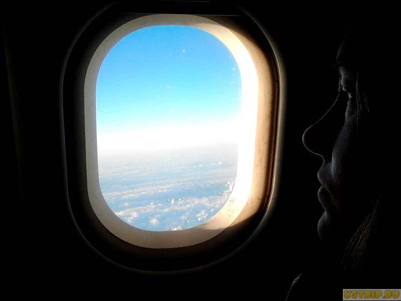 Вид из самолёта на облака