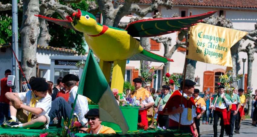 фестиваль попугаев во Франции