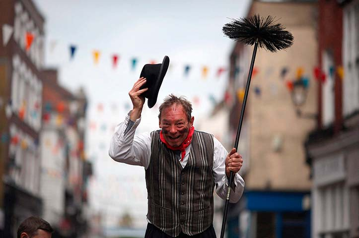 Enthusiasts Take Part In The Chimney Sweeps Festival In Rochester