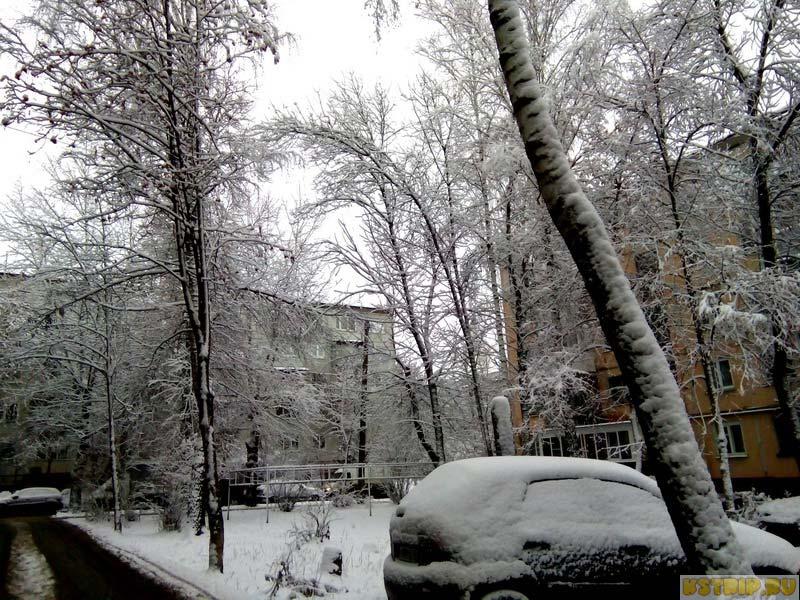 снег в Калуге