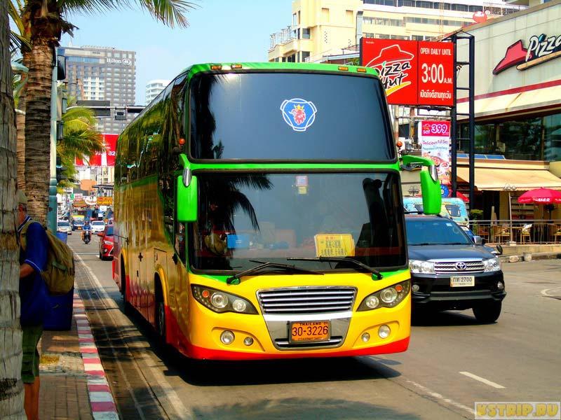 Автобусы в Паттайе, Как добраться на Самуи из Бангкока
