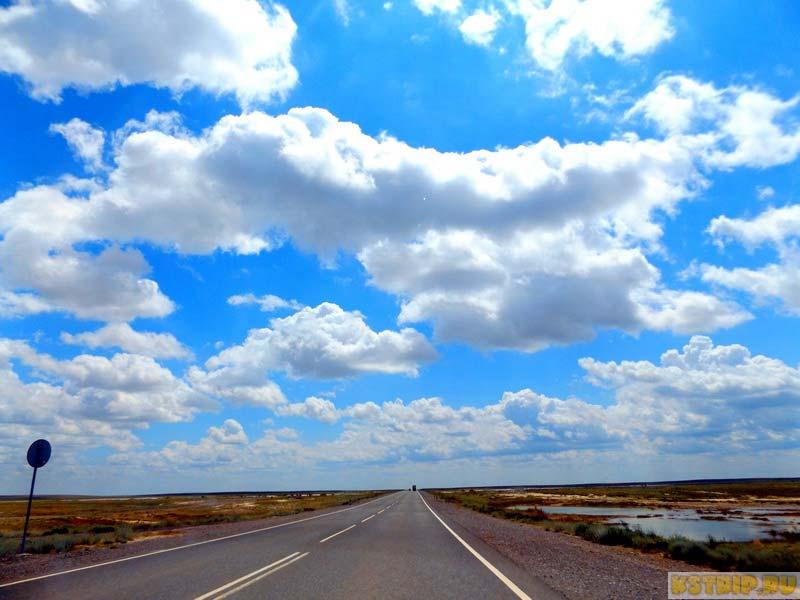дорожные пейзажи Казахстана