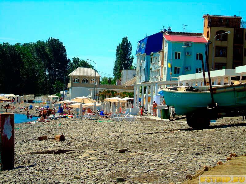 Пляж Лагуна в Лазаревском