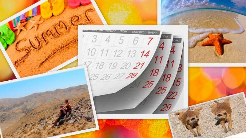 путешествия, календарь