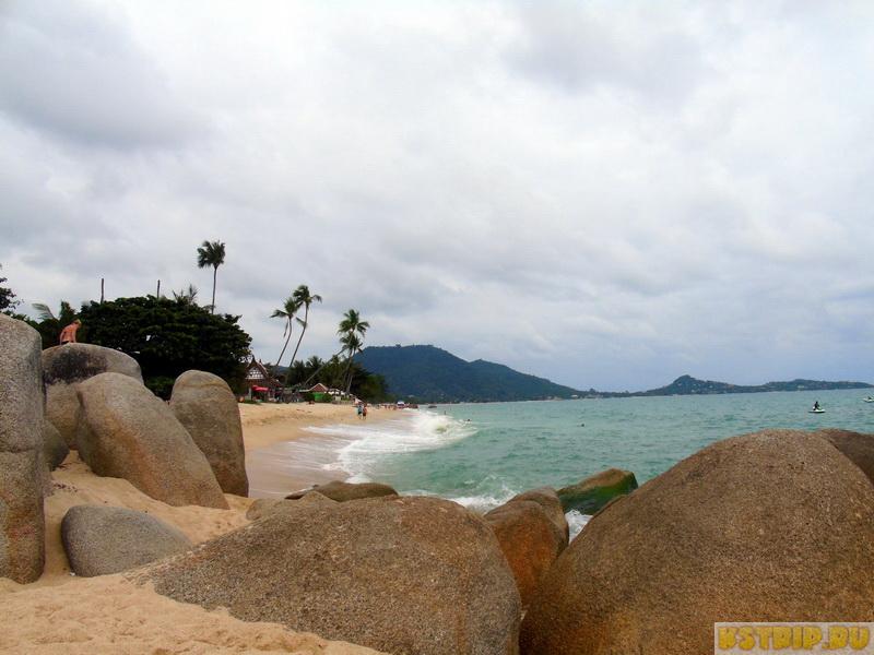 Пляж Ламай на Самуи – большие волны и крутой вход