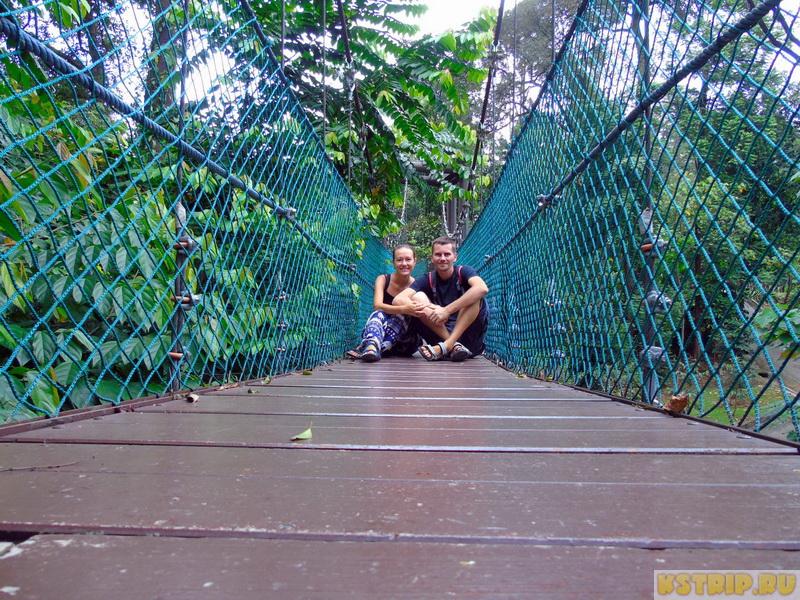 Телебашня Менара в Куала-Лумпуре + парк подвесных мостов