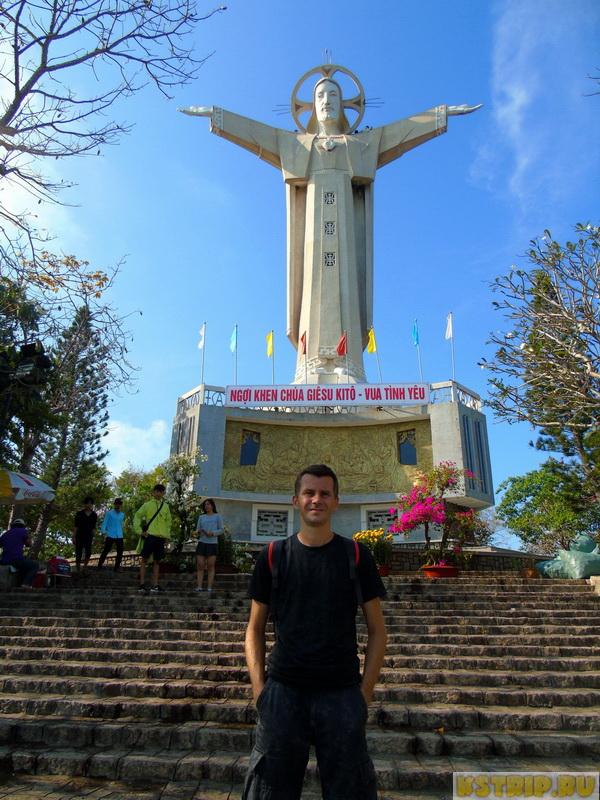 Статуя Иисуса Христа в Вунгтау + развалины крепости + пляж неподалеку
